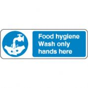 Mandatory Safety Sign - Food Hygiene Hands 065